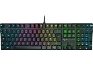 ROCCAT Suora FX, RGB Illuminated Frameless Mechanical Gaming Tastatur, DE Layout Gaming Tastatur