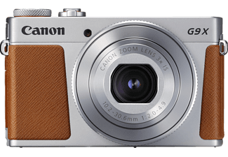 CANON Powershot G9 X Mark II Digitalkamera, 20.9 Megapixel, 3x opt. Zoom, Full HD, HD, CMOS Sensor, Near Field Communication, WLAN, Autofokus, Touchscreen, Silber/Braun