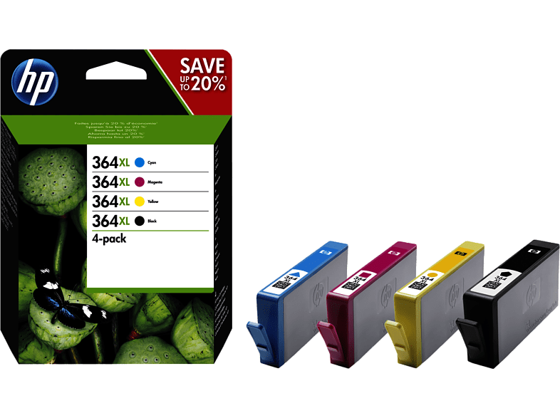 HEWLETT PACKARD 364 XL CRTR Combo Pack - (HPN9J74A) laptop  tablet  computing  εκτύπωση   μελάνια μελάνια  toner computing   tablets
