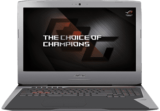 ASUS G752VM-GC017T, Gaming-Notebook mit 17.3 Zoll Display, Core™ i7 Prozessor, 16 GB RAM, 1000 GB HDD, 256 GB SSD, GeForce GTX 1060, Grau