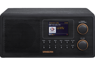 SANGEAN WFR-30 Internet Radio (Netzwerk-Music-Player, WiFi, DAB+, Spotify-Player, UKW-RDS, MP3, AUX-, Internetradio, Schwarz