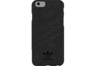 ADIDAS 147285 Moulded, Apple, Backcover, iPhone 6, iPhone 6s, PC/Iimitation suede, Schwarz