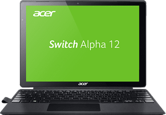 ACER Switch Alpha 12 (SA5-271-38U0), Convertible mit 12 Zoll, 256 GB Speicher, 4 GB RAM, Core™ i3 Prozessor, Windows 10 Home (64 Bit), Silber