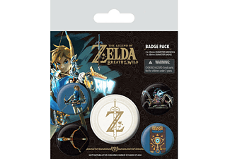 The Legend of Zelda Button Set Breath of the Wild (Logo)