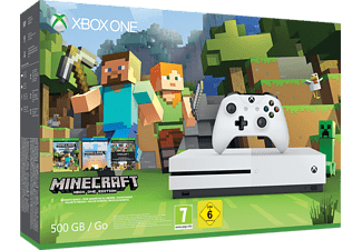 MICROSOFT Xbox One S 500GB Konsole - Minecraft Bundle