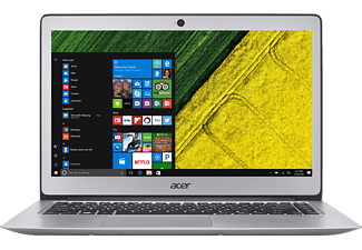 ACER Swift 3 (SF314-51-76CM), Notebook mit 14 Zoll Display, Core™ i7 Prozessor, 8 GB RAM, 512 GB SSD, HD-Grafik 620, Sparkly Silver (Unibody Aluminium)