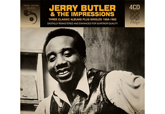 Jerry Butler, The Impressions - 3 Classic Albums Plus - (CD)
