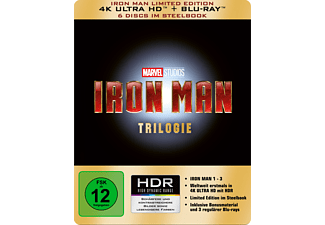Iron Man Trilogie - Limited 4K Ultra HD Edition im Steelbook - (4K Ultra HD Blu-ray + Blu-ray)