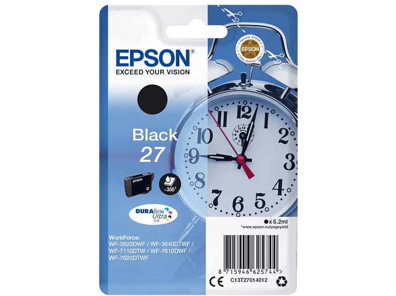 EPSON Singlepack Black 27 DURABrite Ultra Ink - (C13T27014012) laptop  tablet  computing  εκτύπωση   μελάνια μελάνια  toner