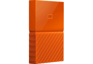 WD My Passport™, 3 TB, Orange, Externe Festplatte