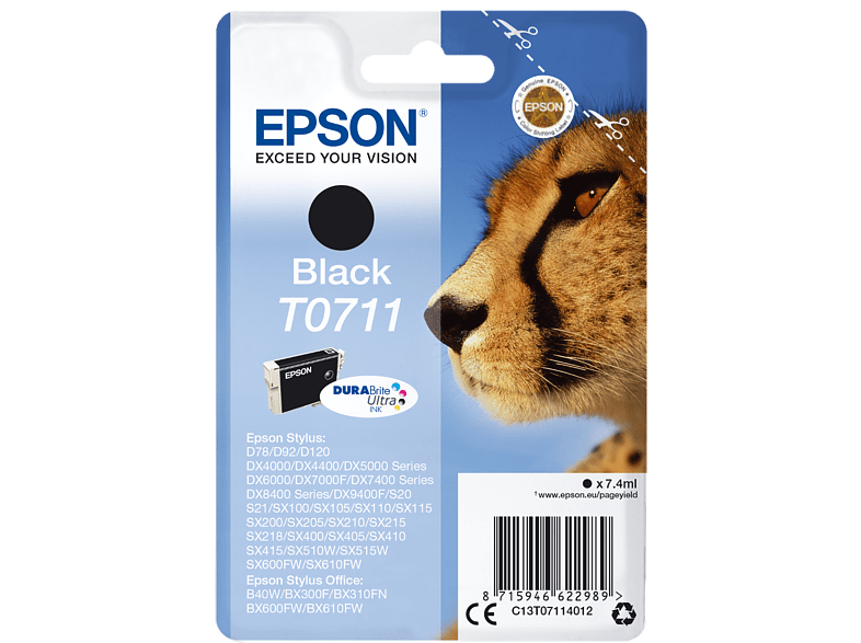 EPSON Singlepack Black T0711 DURABrite Ultra Ink - (C13T07114012) laptop  tablet  computing  εκτύπωση   μελάνια μελάνια  toner