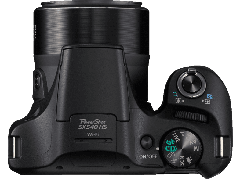 CANON Powershot SX540 HS Bridgekamera, 20.3 Megapixel, 50x opt. Zoom, Schwarz