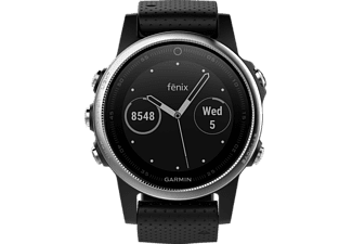GARMIN  Fenix 5S, Smart Watch, 220 mm, Silikon, Silber/Schwarz