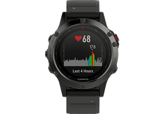 GARMIN  FENIX 5, Smart Watch, Silikon, Grau/Schwarz