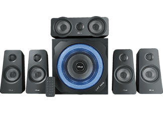 TRUST Trust GXT 658 Tytan 5.1 Surround-Lautsprechersystem, Surround-Lautsprechersetsystem, Schwarz