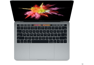 APPLE MacBook Pro mit Touch Bar und Touch ID mit deutscher Tastatur, Notebook mit 13.3 Zoll Display, Core i5 Prozessor, 8 GB RAM, 256 GB Flash, Iris Grafik 550, Space Gray