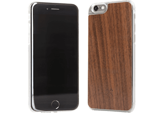 WOODCESSORIES Calvin, Backcover, Apple, iPhone 6, iPhone 6s, Echtholz/Polycarbonat, Braun