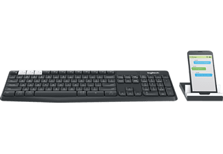LOGITECH K375s Multi-Device Wireless, Tastatur, Schwarz