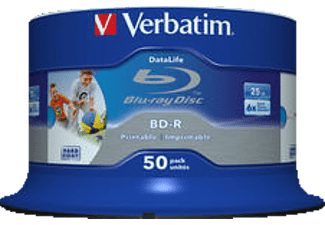 VERBATIM 43812 BD-R Single Layer HTL 25GB 6X, Rohling, 50er Spindel