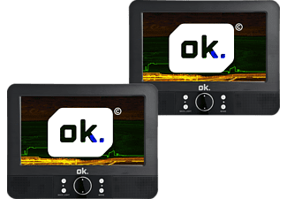 OK. OPD 700D Tragbarer Dual-Screen DVD Player