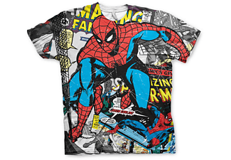 Spiderman T-Shirt Comic allover Print S