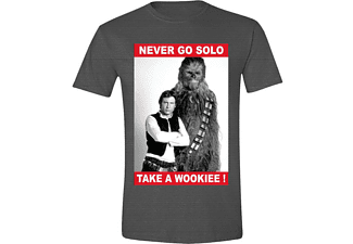 Star Wars T-Shirt Never Go Solo XL