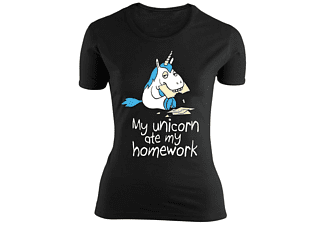 Einhorn Girlie Shirt my Unicorn ate my Homework L