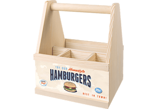 CONTENTO 866841 Try our Homestyle Hamburgers Besteckträger