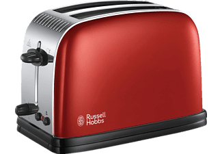 RUSSELL HOBBS 23330-56 Colours Plus Flame Red, Toaster, 1670 Watt