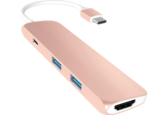 SATECHI B01J4BO0NI, Multi-Port Adapter, Rose Gold