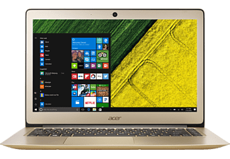 ACER Swift 3 (SF314-51-73M1), Notebook mit 14 Zoll Display, Core™ i7 Prozessor, 8 GB RAM, 512 GB SSD, HD-Grafik 620, Luxury Gold (Unibody Aluminium)