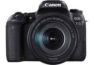 CANON EOS 77D + EF-S 18-135 IS USM fekete Kit