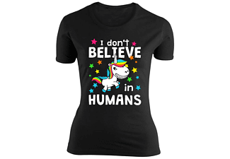 Einhorn Girlie Shirt I don´t Believe in Humans M