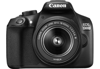 canon eos 1300 d 18 55mm dfin spiegelreflexkamera mit objektiv in schwarz kaufen saturn. Black Bedroom Furniture Sets. Home Design Ideas
