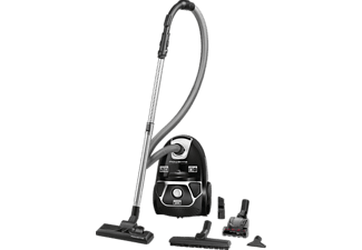 ROWENTA RO3985 EA Compact Power Animal Care Staubsauger mit Beutel, EEK: A, Dunkelrot/Silber