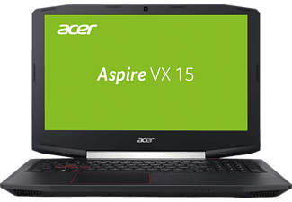 ACER Aspire VX 15 (VX5-591G-7972), Notebook mit 15.6 Zoll Display, Core™ i7 Prozessor, 16 GB RAM, 256 GB SSD, 1 TB HDD, GeForce GTX 1050 Ti, Schwarz