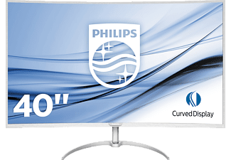 PHILIPS BDM4037UW/00 4K Curved Monitor mit MultiView, Ultra-Wide-Color und Flicker-Free-Technologie
