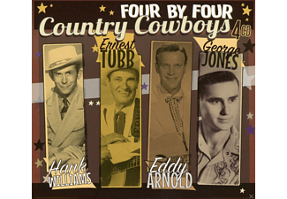 Eddy Arnold, Ernest Tubb, Hank Williams, George Jones - Four By Four-Country Cowboys - (CD)