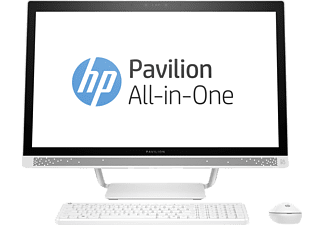 HP Pavilion All-in-One PC 27-a201ng, All-in-One mit 27 Zoll, 1 TB Speicher, 12 GB RAM, Core™ i7 Prozessor, Weiß
