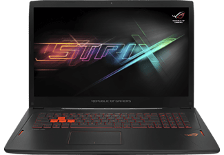 ASUS GL702VM-GC279T, Gaming Notebook mit 17.3 Zoll Display, Core™ i7 Prozessor, 8 GB RAM, 1 TB HDD, 256 GB SSD, GeForce GTX 1060, Schwarz