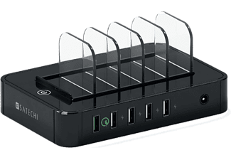 SATECHI 5-PORT USB CHARGING STATION DOCK - BLACK