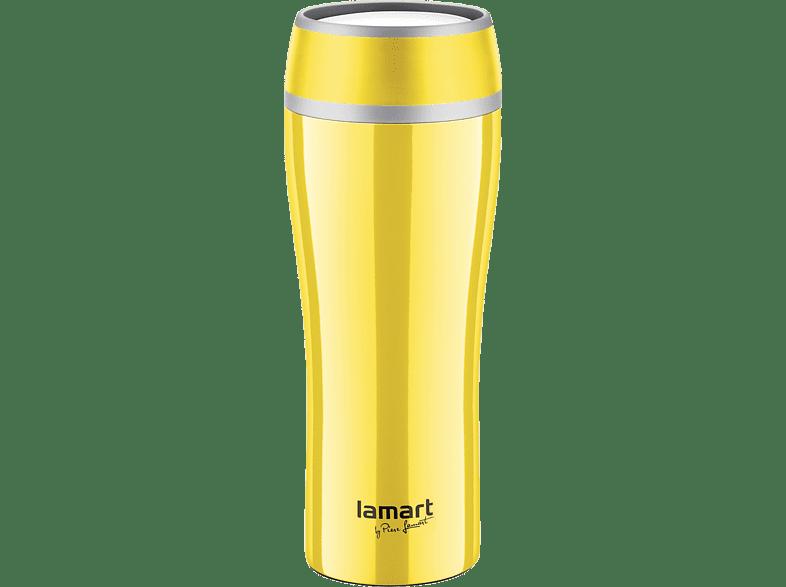 LAMART Ανοξείδωτος Θερμός 400Ml Κίτρινο (LT4027) είδη σπιτιού   μικροσυσκευές καφετιέρες  καφές αξεσουάρ καφέ προσωπική φροντίδα