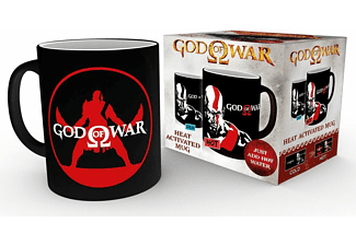God of War ThermoeffektTasse Kratos weiß,schwarz,