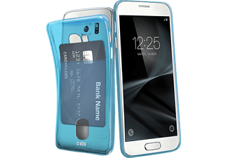SBS-MOBILE Fluo Card Galaxy S7 Handyhülle, Blau