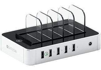 SATECHI 5-PORT USB CHARGING STATION DOCK - WHITE