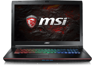 MSI GE72VR Apache Pro, Gaming Notebook mit 17.3 Zoll Display, Core™ i7 Prozessor, 16 GB RAM, 128 GB SSD, 1 TB HDD, GeForce GTX 1060, Schwarz