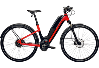 HNF-NICOLAI UD1 UNISEX 17 S/M Citybike (28 Zoll, 45.7 cm, Tiefeinsteiger, 500 Wh, Rot)