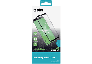 SBS MOBILE Screen Protector Glass för Galaxy S8+ - Svart