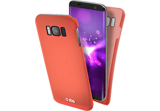 SBS MOBILE ColorFeel Cover för Galaxy S8+ - RÖd