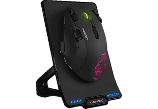ROCCAT Leadr - Wireless Multi-Button RGB Gaming Maus, Schwarz Gaming Mouse